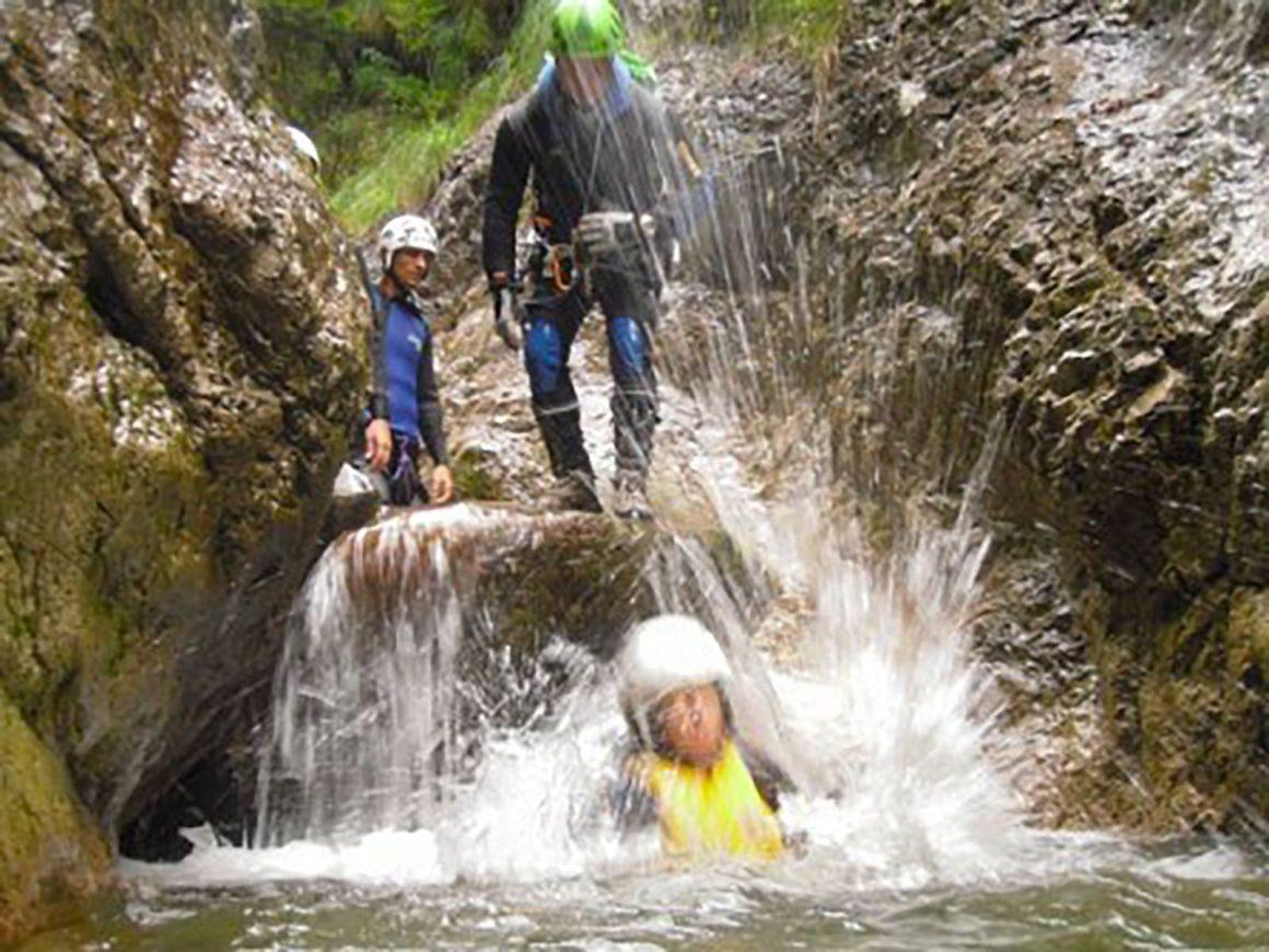 Attività di canyoning nei pressi di Bellagio
