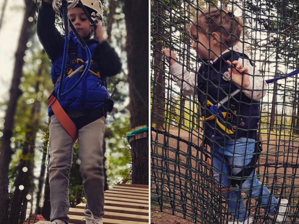 Percorsi per bambini piccoli al parco avventura