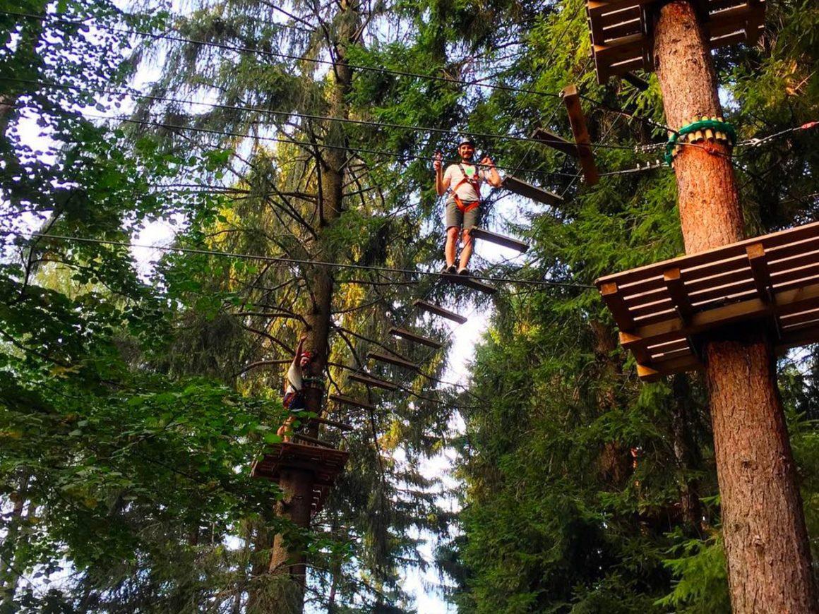 Percorso sugli alberi per ragazzi e adulti ad Albavilla