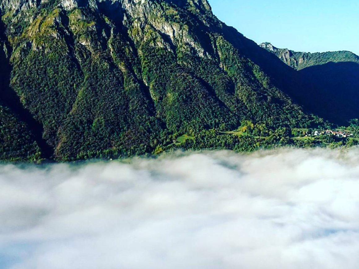 Montagne della Valsassina vicino al parco avventura di Margno