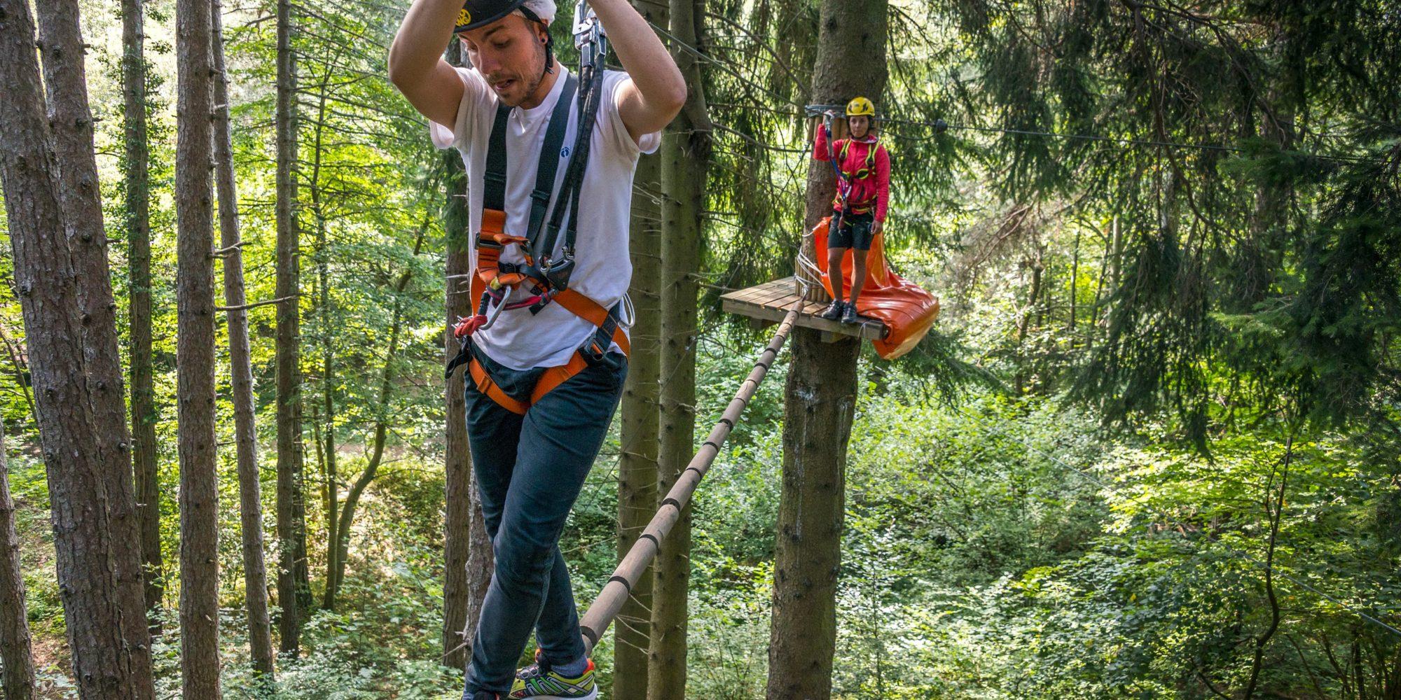 Emozionanti percorsi avventura al Jungle Raider Park di Civenna