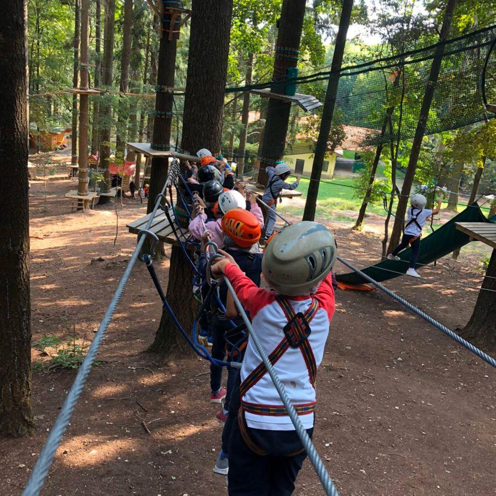 Percorsi per bambini al parco divertimenti in Lombardia
