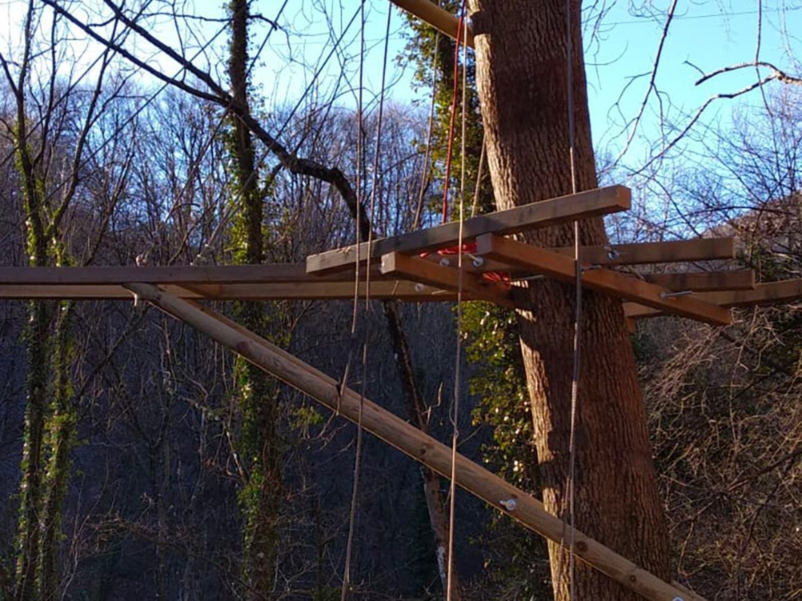 Posizionamento di passerelle nel rispetto degli alberi
