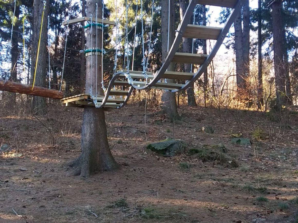 Allestimento parchi avventura in aree verdi pubbliche e private