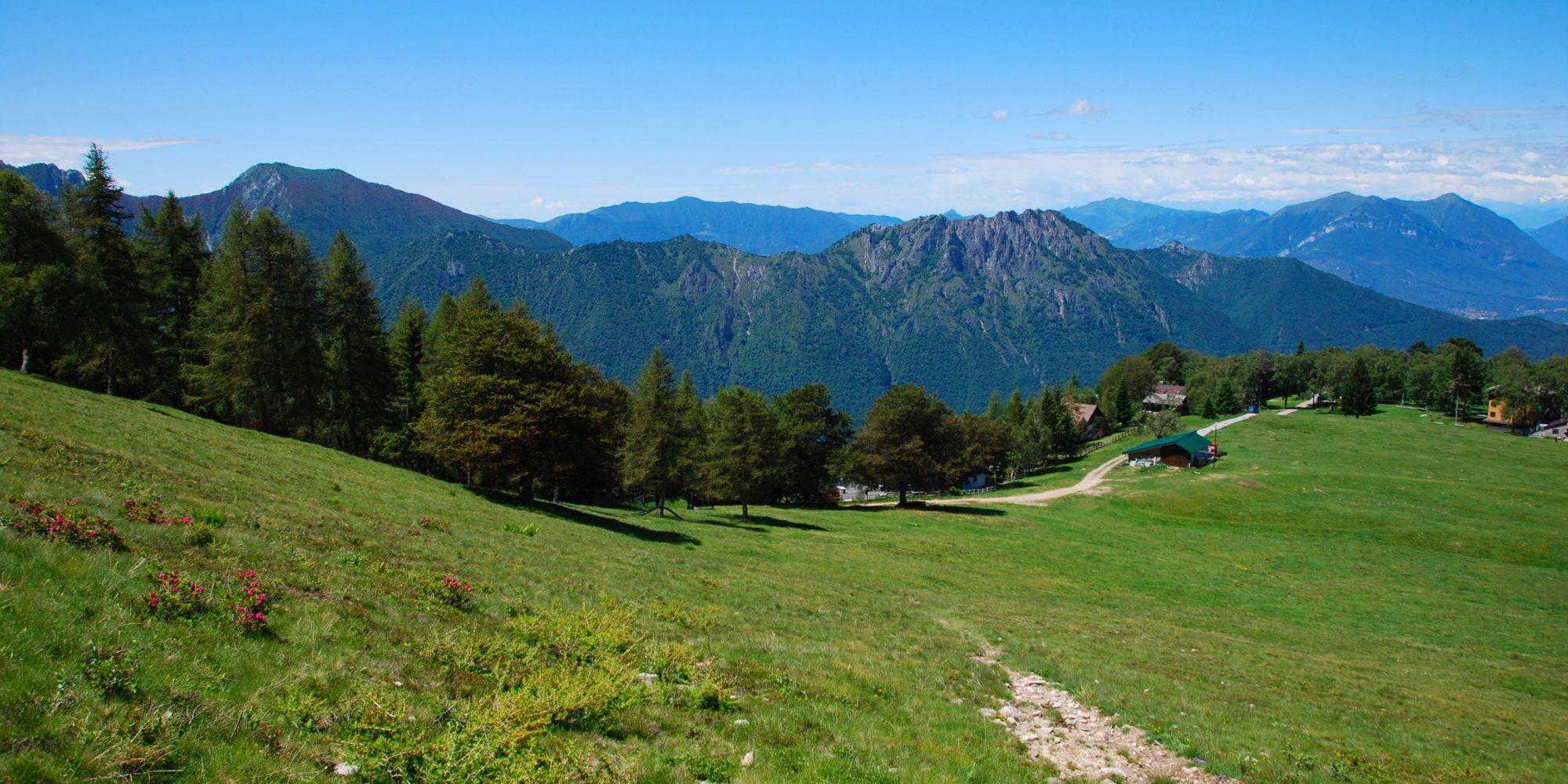 Sentieri per il trekking del Pian delle Betulle vicino al Lago di Como