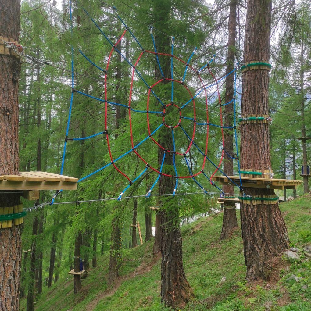 Costruzione parco avventura a Caspoggio